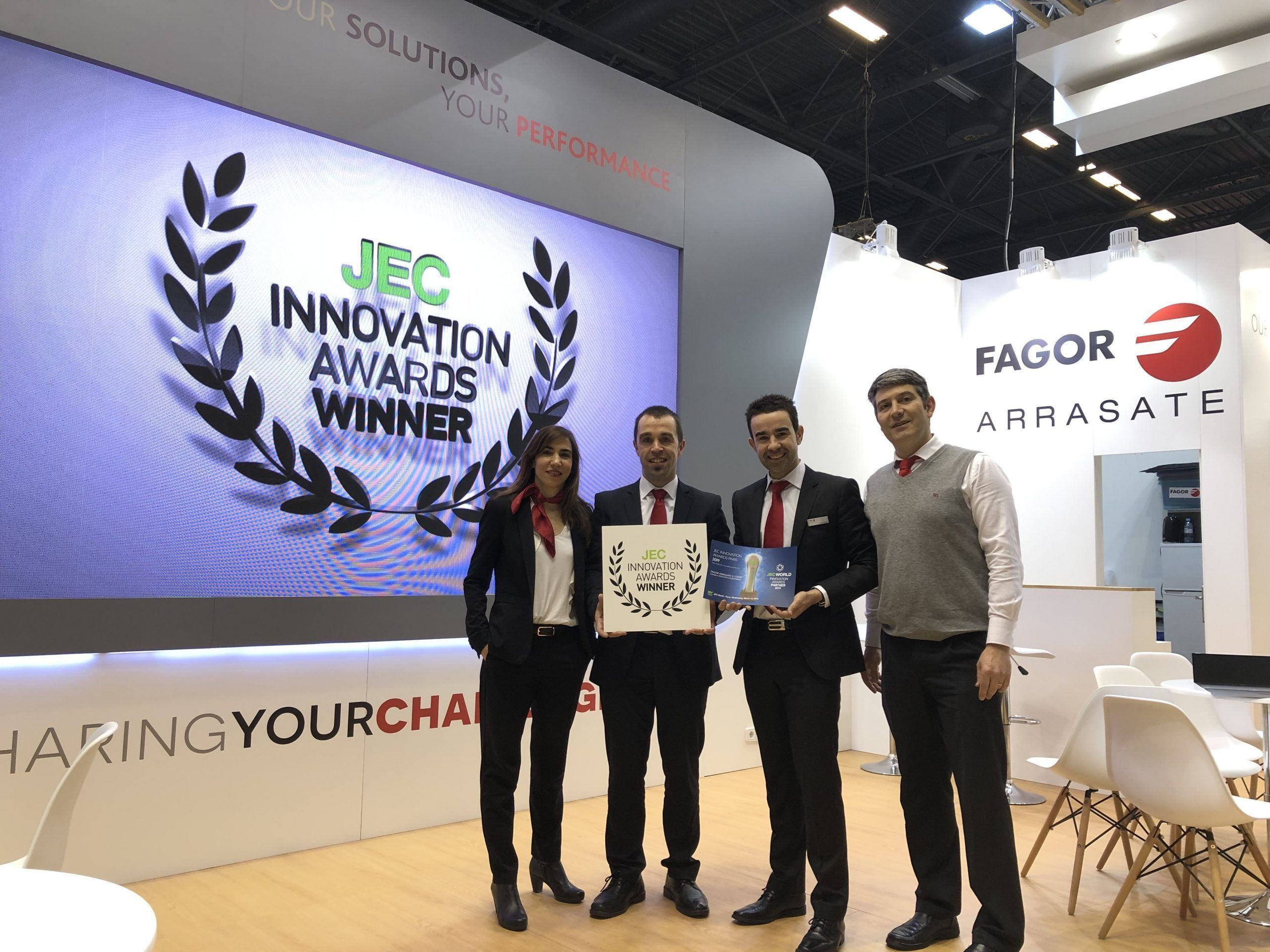 Fagor Arrasate event: Fagor Arrasate's collaborative project of an ultra-fast consolidator machine system receives the JEC Innovation Award