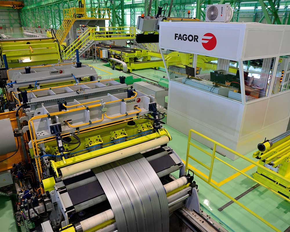Fagor Arrasate´s slitting line with highest quality standards